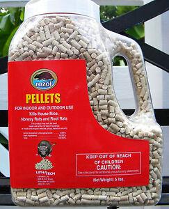 ROZOL-PELLETS-Kills-Mice-Rats-Voles-Moles-FOR-INDOOR-amp-OUTDOOR-USE-5-LBS