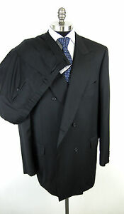 New-BRIONI-039-Tiberio-039-Super-150-039-s-Black-Double-Breasted-DB-Suit-52-52L-NWT-6K
