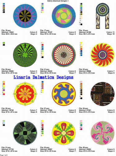 LD MACHINE EMBROIDERY 1 NATIVE AMERICAN DESIGNS V 4x4