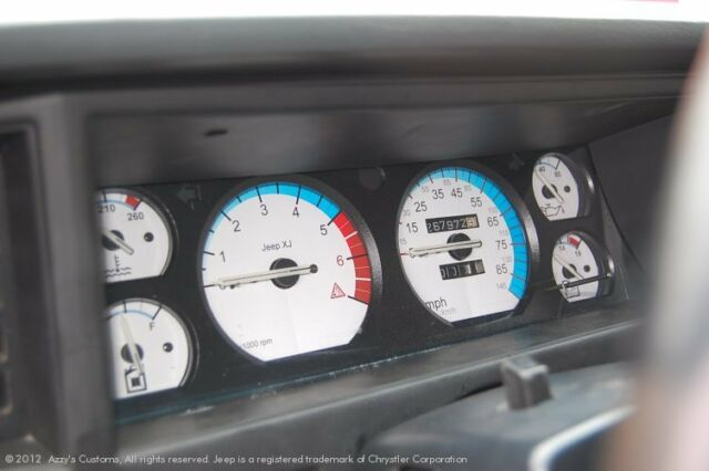 Jeep Cherokee XJ Comanche MJ dash cluster white and carbon gauge face kit 92-96