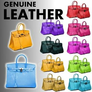 Genuine-Real-Leather-New-Celebrity-Cool-Handbag-Tote-Purse-Hobo-Travel-Bag-HM038