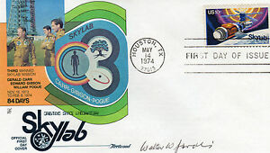 VON-BRAUN-rocket-team-member-WALTER-W-JACOBI-signed-SKYLAB-FDC-RARE