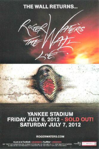 Roger Waters THE WALL Pink Floyd Yankee Stadium Concert Handbill