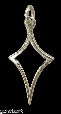 Large .925 Sterling Silver Kite Charm Pendant, A ΚΑΘ Symbol By McCartney