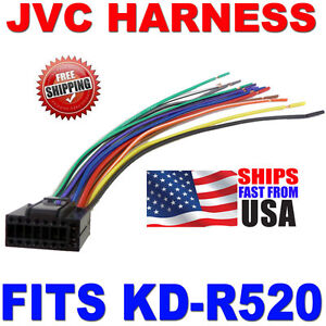 2010 jvc wire harness 16 pin harness kd r520 kdr520 ebay. Black Bedroom Furniture Sets. Home Design Ideas