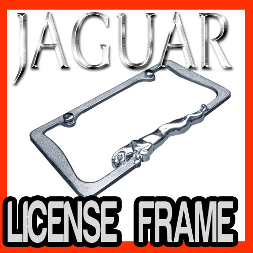 JAGUAR 3D CHROME METAL LICENSE PLATE FRAME / BEST QUALITY AAA+