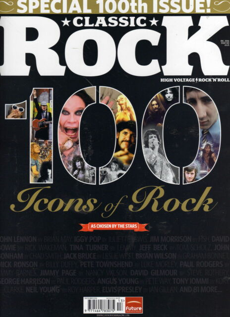 Classic Rock 100  Celebration Issue    FREE CD