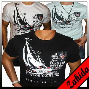Polo-Herren-T-Shirt-Kurzarm-Hoodie-Yacht-Golf-Weiss-Schwarz-Club-M-L-XL-XXL-NEU