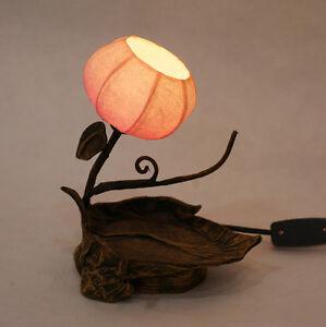 Paper Oriental Decorative Shade Leaf Design Bedside Orange