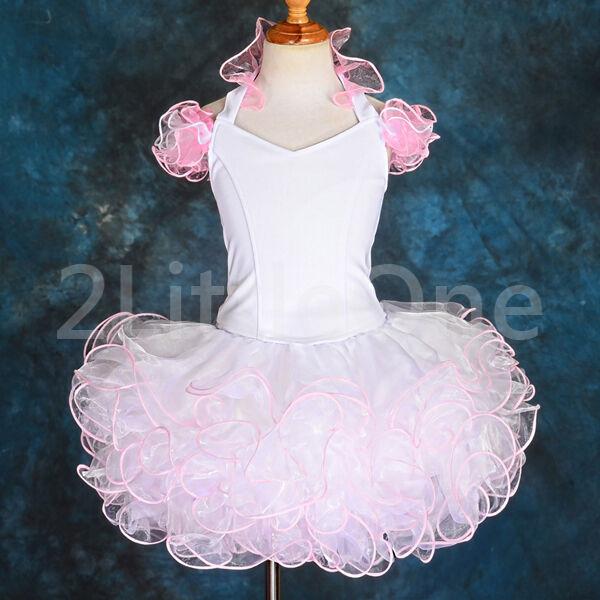 2 Pcs Cupcake Halter National Pageant Dress DIY Shell Toddler Size 12m-11 PT002