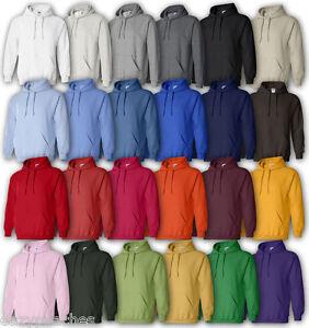 GILDAN-Men-039-s-2XL-3XL-4XL-5XL-Blend-Hooded-Sweatshirt-Hoodie-Jumper-18500