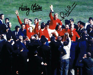 Nobby-Stiles-amp-Ray-Wilson-SIGNED-Autograph-1966-World-Cup-Winner-Photo-AFTAL-COA