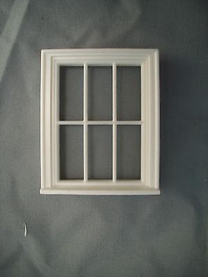 Half Scale 1:24  Victorian 6 Pane  Window  Jackson's Miniatures Dollhouse #L10