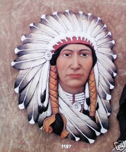 Ceramic Bisque Chief Plaque Mask Clay Magic Mold 1197 U-Paint Ready To Paint