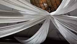 Wedding ceiling / Backdrop L 10ft/ 1pc  Crystal Sheer