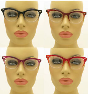 New-50-039-s-Vintage-Style-Clear-Lens-Gradient-Frame-Cat-Eye-Glasses-Eyeglasses