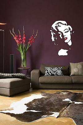 Marilyn Monroe Iconic Wall Art image, Vinyl Decal Sticker, Matt & Gloss WA031