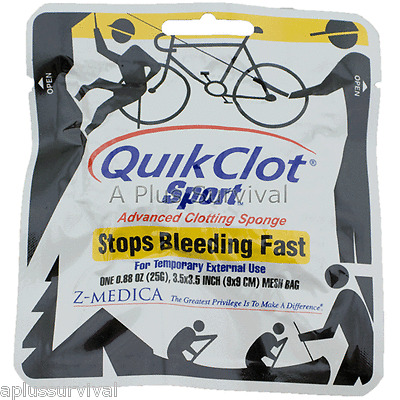 QuikClot Sport 25g Quick Clot 25 Stops Bleeding Fast!