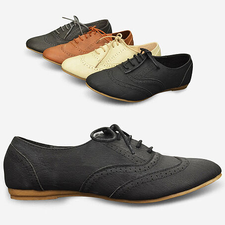 Classics Womens Shoes Lace Up Dress Oxfords Low Flats Heels Multi Colored B46Z