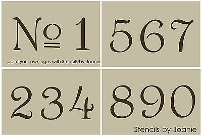 "French Old Vintage Style Number Stencil 3"" Paris Chic Cottage Address Home Decor"