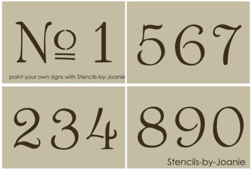 """French Old Vintage Style Number STENCIL 3"""" Paris Chic Cottage Address Home Decor"""