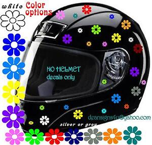 Multi Color FLOWERS Decal Motorcycle Bicycle Helmet Girl Women - Helmet decals motorcycle womens