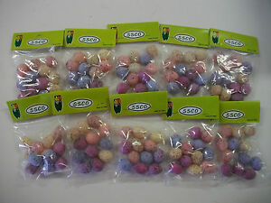 Plastic-Speckled-Mini-Robin-Eggs-10-packs-of-12-each-Multi-Colored