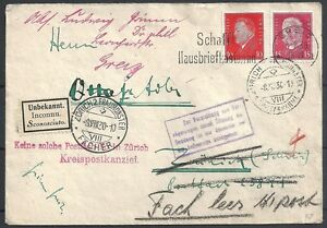 Reich covers 1930 attractive Wandercover INCONNU / postmark