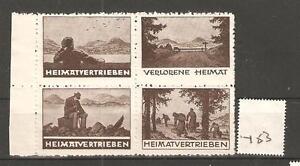 CINDERELLA-Y53-GERMANY-HEIMATVERTRIEBEN-SE-TENANT-BLOCK