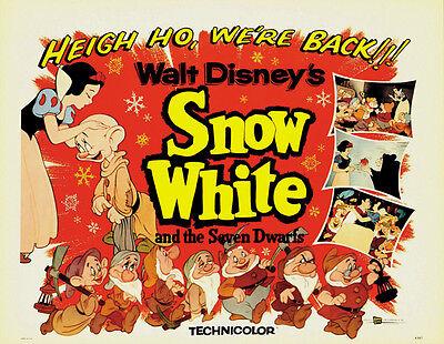Snow White and the Seven Dwarfs (1937) Disney cartoon movie poster print 13