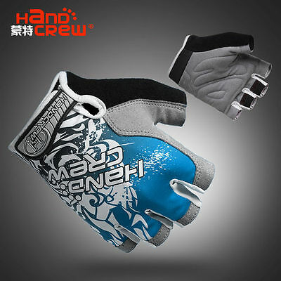 2015 New Style Cool outdoor cycling bike bicycle Sports Half FInger Glove Blue