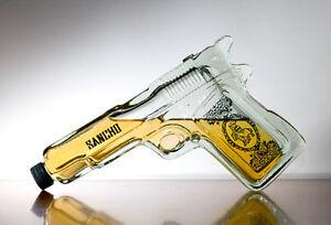Pistol Gun Shaped Glass Tequila Bottle Liquor Spirits Ebay