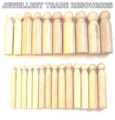 24 Hard Wooden Dapping / Doming Punch set Jewellers & Silversmiths 9 - 24mm