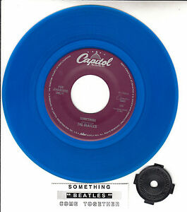 BEATLES-Something-amp-Come-Together-BLUE-VINYL-7-034-45-record-NEW-juke-box-strip