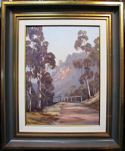Pat-Murphy-original-oil-titled-039-Pee-Wees-perching-at-Wisemans-Ferry-039-Australia