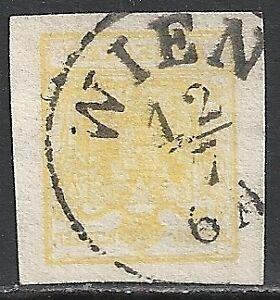 Austria-stamps-1850-YV-1-CANC-VF
