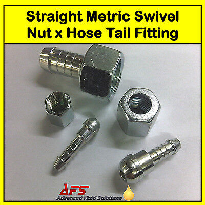 Metric Conical Hose Tail Fitting Diesel Petrol Oil Cooler Tube Pipe Fuel Filter