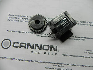 CANNON DOWNRIGGER LINE COUNTER Part 0220477 - DEPTH meter & DRIVE GEAR 3333003