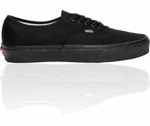 VANS-AUTHENTIC-ALL-BLACK-CANVAS-NEW-IN-BOX-VARIOUS-SIZES-MEN-039-S-AND-WOMEN-039-S