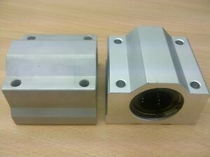 x2pcs-New-SC20-Housing-ID20mm-Samic-Linear-Bearing-CNC-SMA20