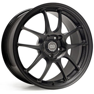 ENKEI-PF01-17x8-034-Racing-Wheel-Wheels-5x100-5x112-5x114-3-Offset-35-45-50-Black
