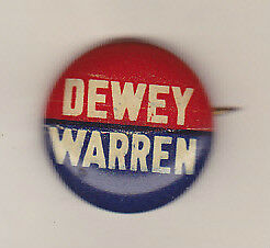 1948-DEWEY-WARREN-19mm-PRESIDENTIAL-POLITICAL-CAMPAIGN-PIN-VINTAGE-BUTTON-RARE