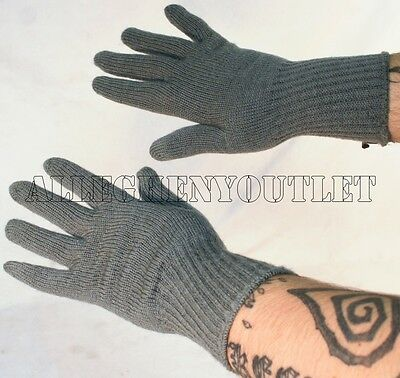 US Army Military WOOL GLOVE INSERTS ACU Foliage Cold Weather Lightweight Large