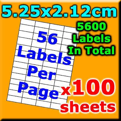 100Sheet 5.25x2.12cm 56Labels PerPg A4 Office Mailing Address Label Laser Inkjet