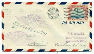 1928-CAM-FLIGHT-COVER-22SW5-SAN-ANTONIO-TO-LAREDO-TX-TEXAS-AIR-TRANSPORT-C11