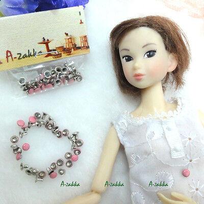 Doll Bjd 1/6 Dollfie Dress Making DIY Crafts Metal Mini Mushroom Rivet 4mm Pink