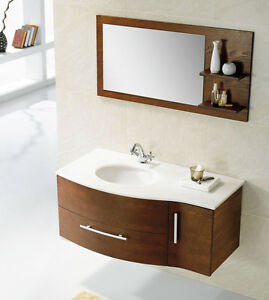 "45"" Solid Wood Modern/ Contemporary Design Bathroom Vanity ..."