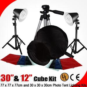 Photo-Studio-32-034-12-034-Photography-Light-Tent-Tripod-Kit-Cube-Lighting-In-A-Box