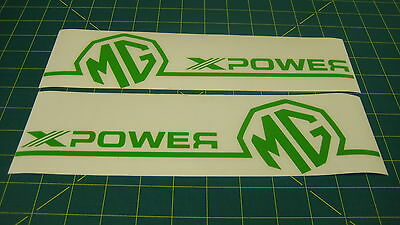 MG ZR ZS ZT XPower Rear quater window / Body Large Handed decals stickers