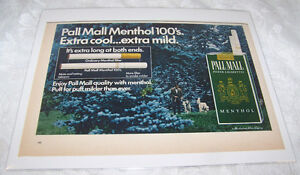 Vintage-Original-Ad-Advertising-Print-Art-1968-PALL-MALL-CIGARETTES